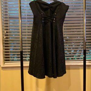 Nextina fashion black strapless dress